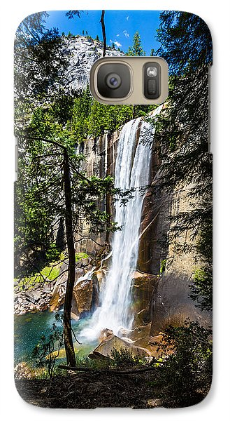 Galaxy Case featuring the photograph Vernal Falls Through The Trees by Mike Lee