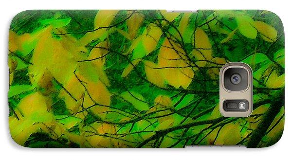 Galaxy Case featuring the digital art Vert Leaves by Kristen R Kennedy