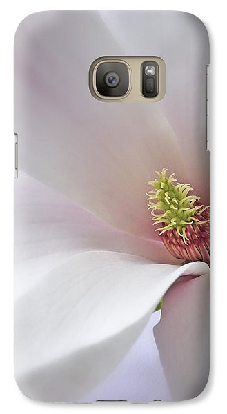 Galaxy Case featuring the photograph Vertical White Flower Magnolia Spring Blossom Floral Fine Art Photograph by Artecco Fine Art Photography