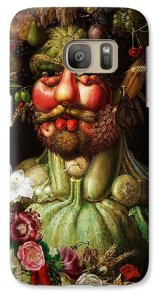 Galaxy Case featuring the digital art Vertumnus by Giuseppe Arcimboldo