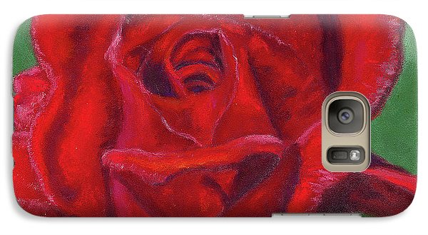 Galaxy Case featuring the painting Very Red Rose by Arlene Crafton