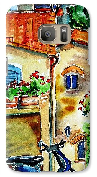 Galaxy Case featuring the painting Vespa In Tuscany  by Trudi Doyle