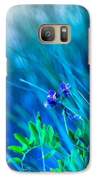 Galaxy Case featuring the photograph Vetch In Blue by Adria Trail