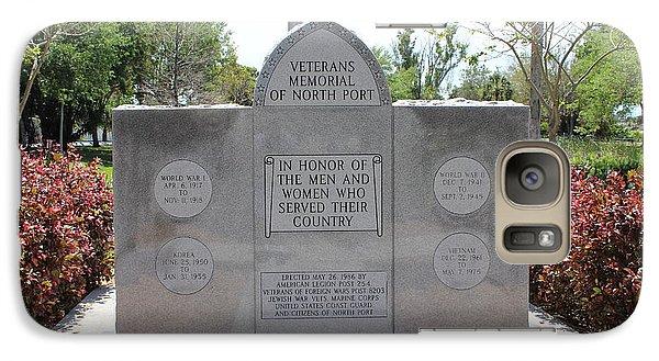 Galaxy Case featuring the photograph Veterans Memorial by John Mathews