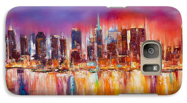 Vibrant New York City Skyline Galaxy Case by Manit