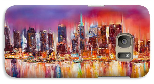 Empire State Building Galaxy S7 Case - Vibrant New York City Skyline by Manit