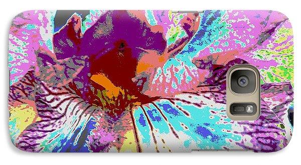 Galaxy Case featuring the photograph Vibrant Petals by Sally Simon