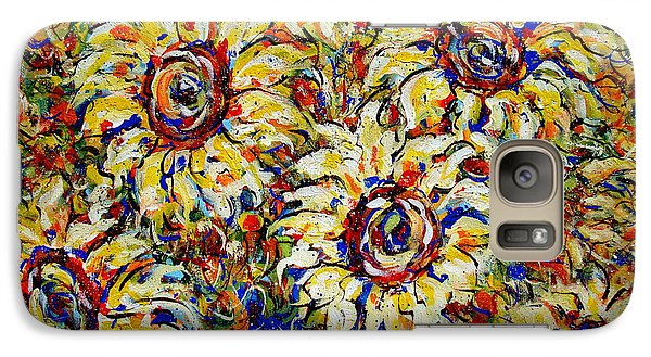 Galaxy Case featuring the painting Vibrant Sunflower Essence by Natalie Holland