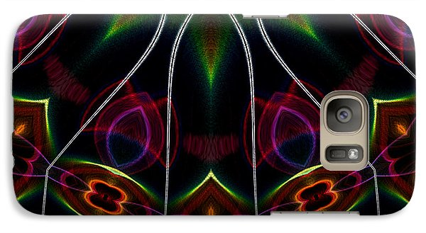Galaxy Case featuring the digital art Vibrational Tendencies by Owlspook