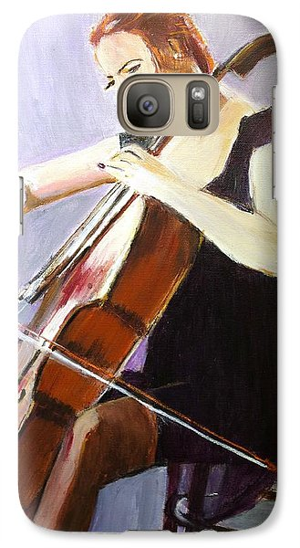 Galaxy Case featuring the painting Vibrato by Judy Kay