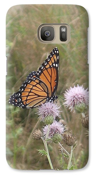 Galaxy Case featuring the photograph Viceroy On Thistle by Robert Nickologianis