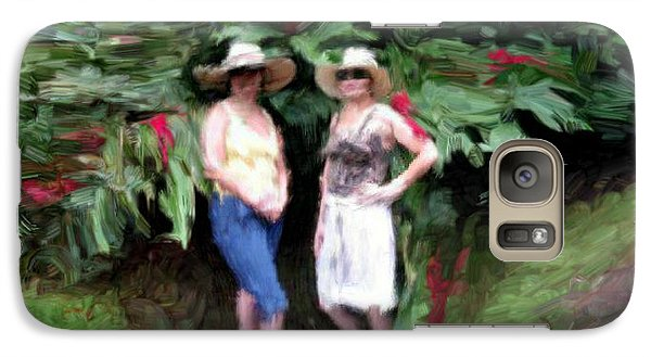Galaxy Case featuring the painting Victoria And Friend by Bruce Nutting