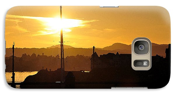 Galaxy Case featuring the digital art Victoria Harbor Sunset 1 by Kirt Tisdale