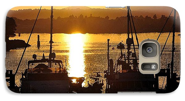 Galaxy Case featuring the digital art Victoria Harbor Sunset 2 by Kirt Tisdale