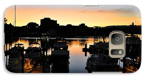 Galaxy Case featuring the digital art Victoria Harbor Sunset 3 by Kirt Tisdale