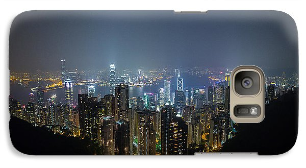 Galaxy Case featuring the photograph Victoria Peak by Mike Lee