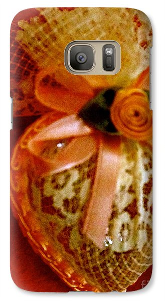Galaxy Case featuring the photograph Victorian Lace Heart Study 2 by Cathy Dee Janes