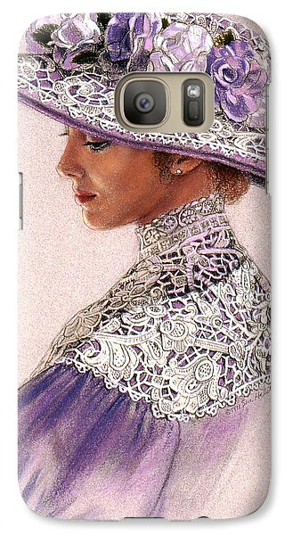 Galaxy Case featuring the painting Victorian Lady In Lavender Lace by Sue Halstenberg