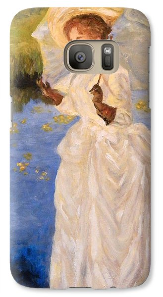 Galaxy Case featuring the painting Victorian Lady by Sandra Nardone