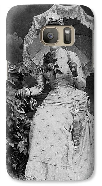Galaxy Case featuring the photograph Victorian Women With Umbrella by Lyric Lucas