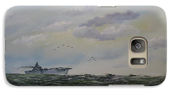 Galaxy Case featuring the painting Victory At Sea by Ken Ahlering