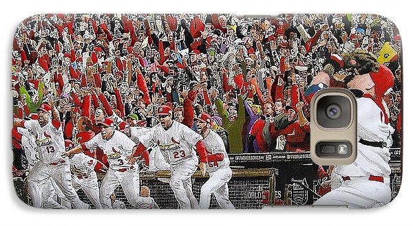 Baseball Galaxy S7 Case - Victory - St Louis Cardinals Win The World Series Title - Friday Oct 28th 2011 by Dan Haraga