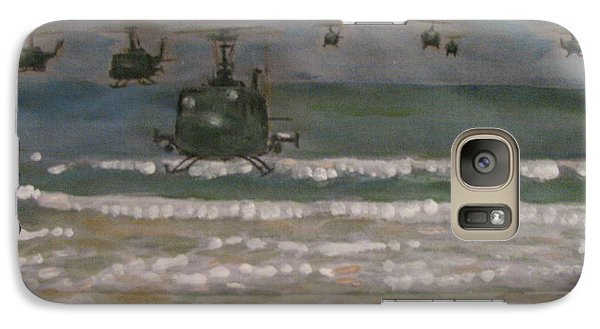 Galaxy Case featuring the painting Vietnam Apocalypse Now by Vikram Singh