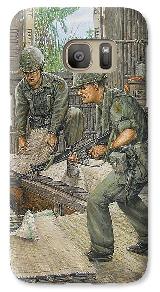 Galaxy Case featuring the painting Vietnam Tunnels by Bob  George