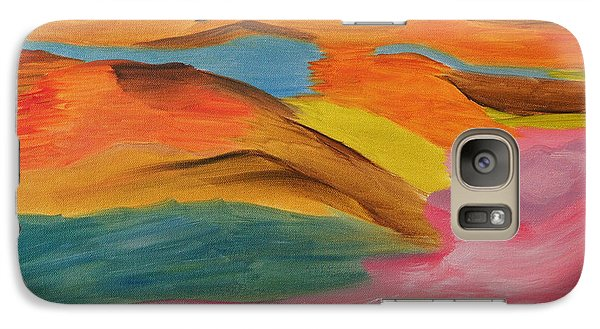 Galaxy Case featuring the painting View From Above by Meryl Goudey