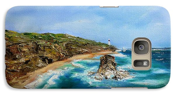 Galaxy Case featuring the painting View From Great Ocean Road - Original Sold by Therese Alcorn