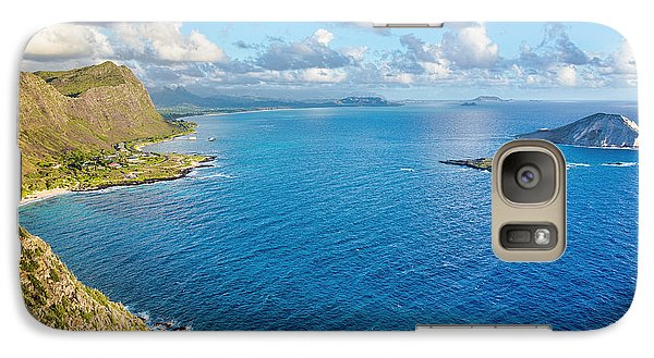 Galaxy Case featuring the photograph View From Makapuu Point by Aloha Art