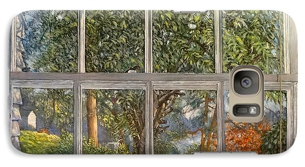 Galaxy Case featuring the painting View From The Nest by Charles Munn