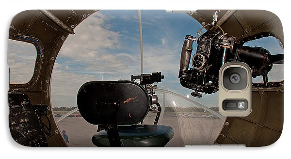 Galaxy Case featuring the photograph View From The Nose Of Memphis Belle by John Black