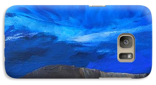 Galaxy Case featuring the painting View From The Ridge by Linda Bailey