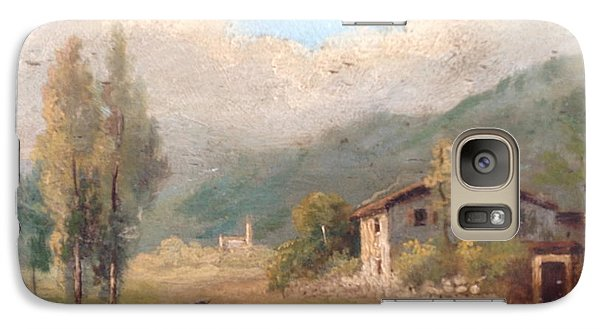 Galaxy Case featuring the painting View Of Countryside by Egidio Graziani