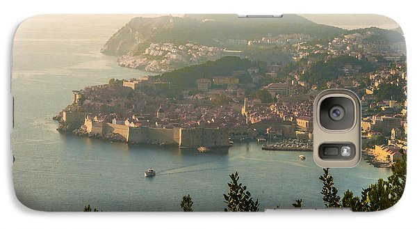Galaxy Case featuring the photograph View Of Dubrovnik Peninsula by Phyllis Peterson