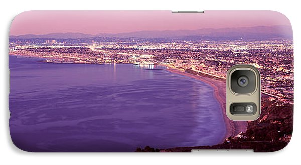 Venice Beach Galaxy S7 Case - View Of Los Angeles Downtown by Panoramic Images