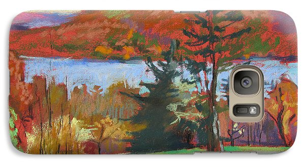 Galaxy Case featuring the painting View Of The Lake by Linda Novick