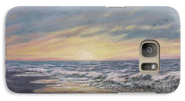 Galaxy Case featuring the painting View Of The Sea by Kathleen McDermott