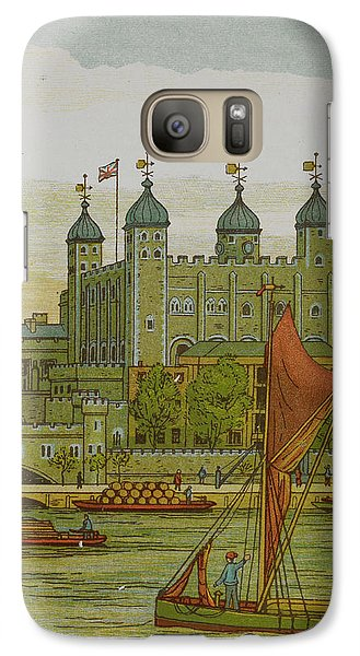 View Of The Tower Of London Galaxy Case by British Library