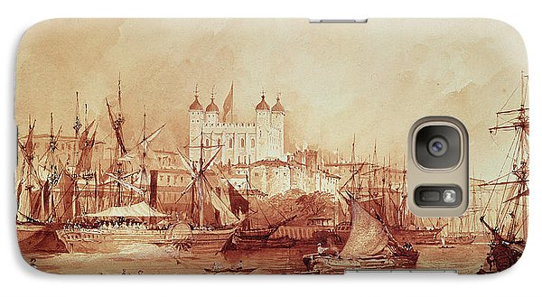 View Of The Tower Of London Galaxy Case by William Parrott