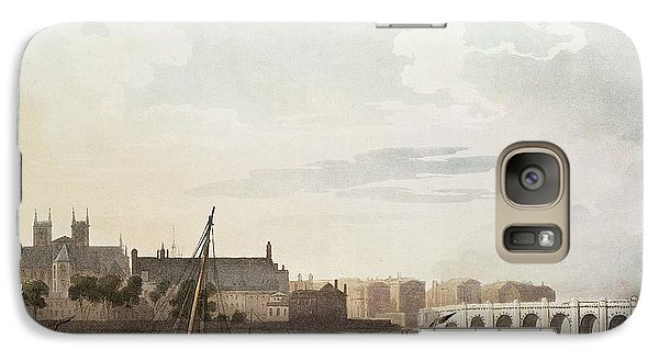 View Of Westminster And The Bridge Wc On Paper Galaxy S7 Case by English School