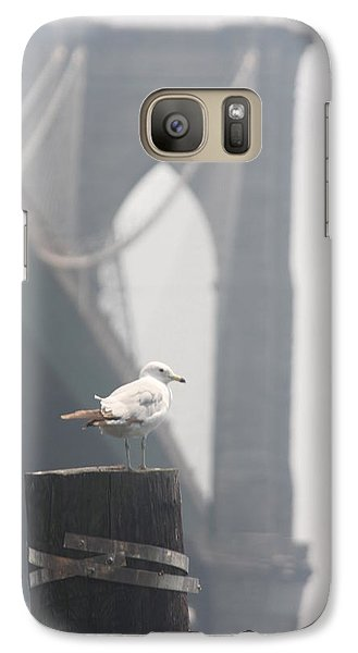 Galaxy Case featuring the photograph View On Brooklyn Bridge by Vadim Levin
