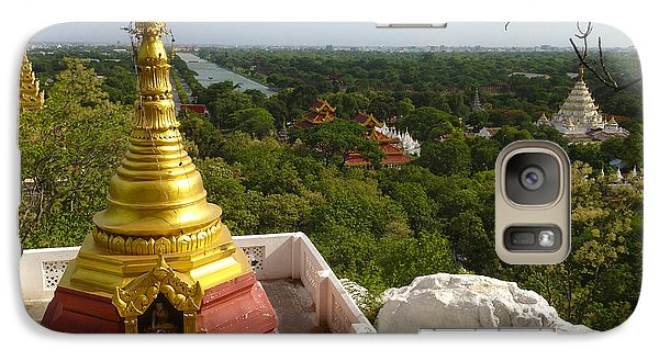 Galaxy Case featuring the photograph View Over Ancient City Of Mandalay Aungmyaythazan From Mandalay Hill Mandalay Burma by Ralph A  Ledergerber-Photography