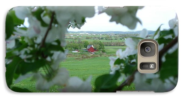 Galaxy Case featuring the photograph View Through Apple Blossoms by Patricia Overmoyer