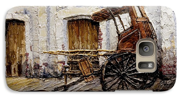 Galaxy Case featuring the painting Vigan Carriage 1 by Joey Agbayani