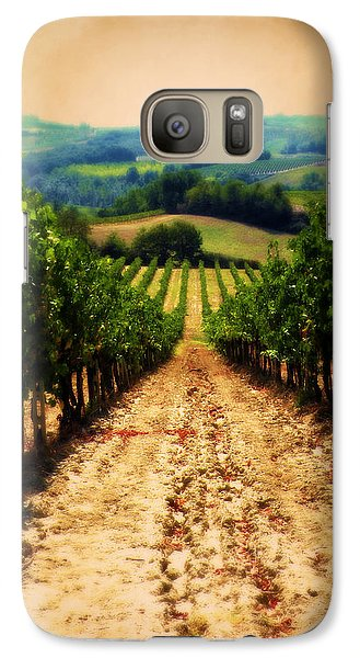 Galaxy Case featuring the photograph Vigneto Toscana by Micki Findlay