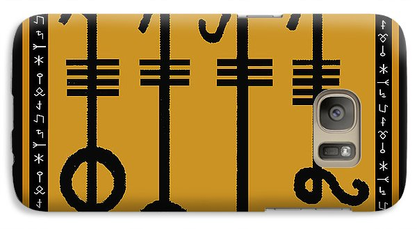 Galaxy Case featuring the digital art Viking Sleepthorn Spell by Vagabond Folk Art - Virginia Vivier