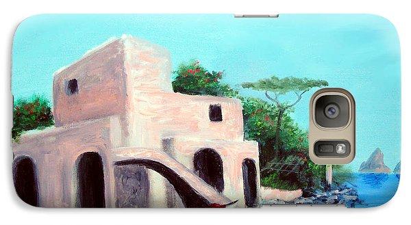 Galaxy Case featuring the painting Villa Capri by Larry Cirigliano
