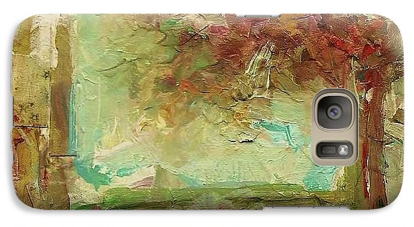 Galaxy Case featuring the painting Villa by Mary Wolf